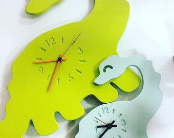 DINO the dinosaur Watch-wall clock-kids decor-Children's watch-birth gift-gift idea-Baby room