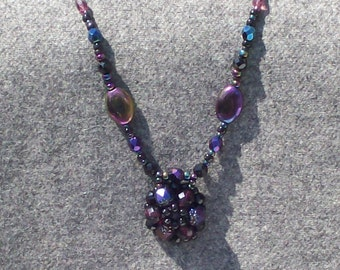 Victorian mourning jewelry inspired necklace