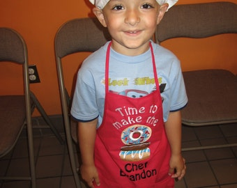 Time to Make the Donuts Chef Apron Personalized