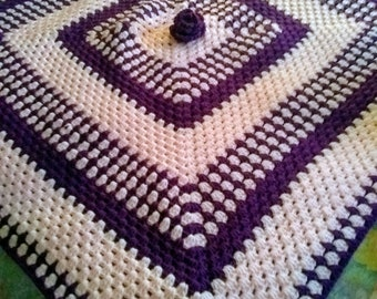 Pink and purple rose blanket