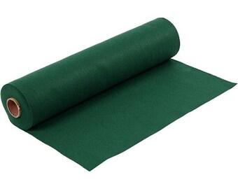 Dark leaf green, synthetic felt, dimension: 100 cm * 45 cm, thickness 1.5 mm 180-200 g/m2