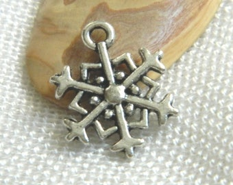 1 charm star snow 5 metal 19 * 17 mm