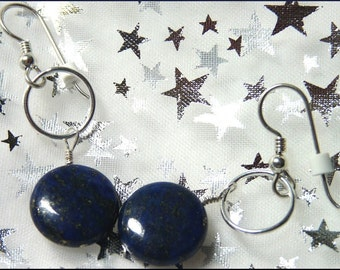 Starry Starry Night Lapis and Sterling Earrings
