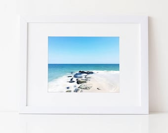 Beach Photography, Ocean Photography, Beach Photo, Tropical Print, Blue Wall Art, Jersey Shore, Fine Art Photography Print