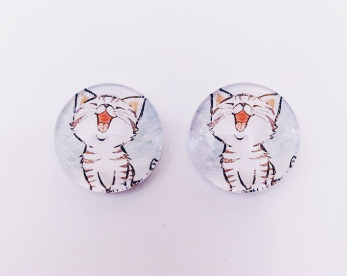 The 'Missy' Glass Earring Studs