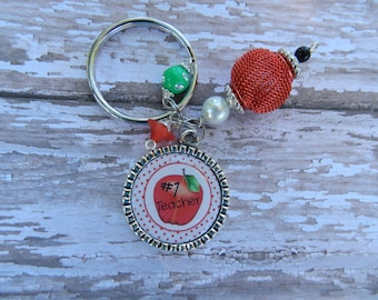 Teacher Bottlecap Key Chain