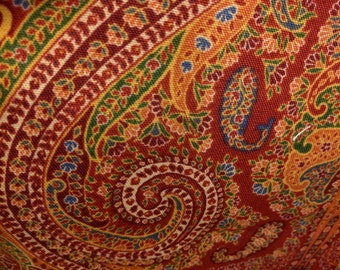 Burgandy Paisley Fabric