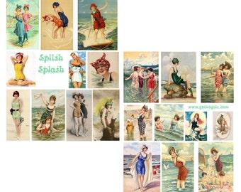 Splish Splash Digital Collage Sheets