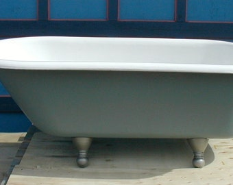 1932 Claw Foot bath tub cast iron professional refinished Revere Pewter historicaly correct color