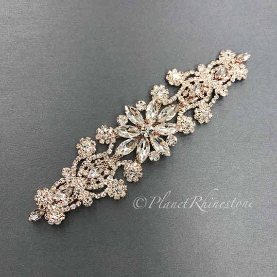 Rose Gold Rhinestone Applique #0510