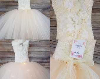 Ivory flower girl dress 4-5