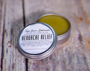 Organic Headache Relief Rub ~ Salve for Headaches, Cooling & Refreshing Balm, Remedy for Migraines, Mothers Day Gifts for Mom, For my wife
