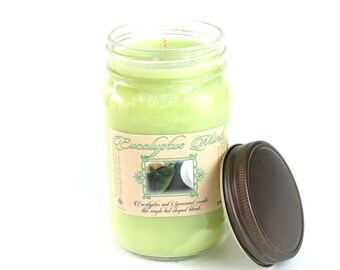 Eucalyptus Mint - Natural Soy Candle - 16 oz