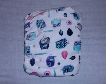 Cuddle Soft White Owl Fitted Baby Crib Sheet