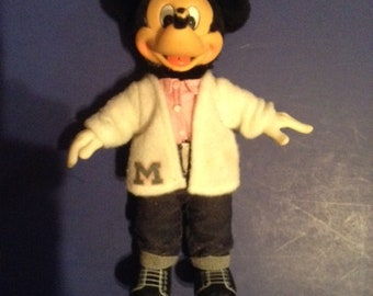Vintage Sock Hop Mickey Mouse Doll