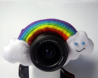 Camera buddy Photography accessory Camera lens buddy Photographer helper Camera accessory Photo helper Camera gift Felt rainbow Felt toy