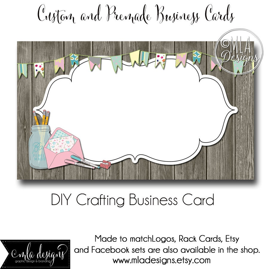 Craft Business Card Template Crafting Business Card Made