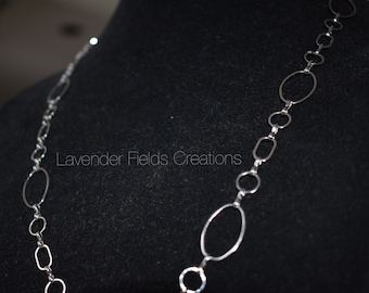 Silver Chain Link Necklace (201814N)