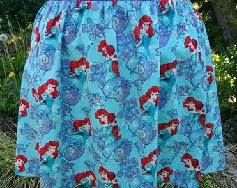 Ariel Skirt - Women's Little Mermaid Skirt - Women's Flared Skirt - Skirt with Pockets - Elastic Waist Skirt