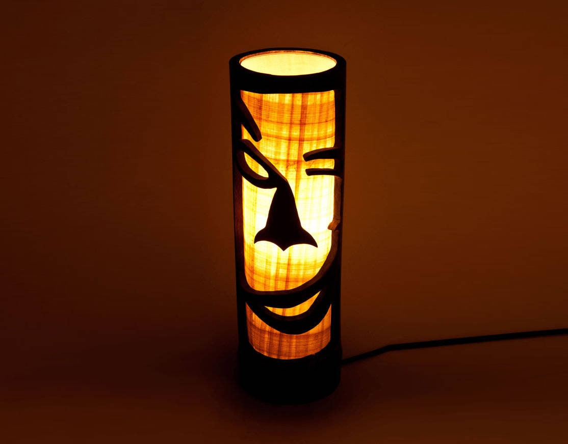 African Home Decor African Furniture Wooden Mask Wooden for Bamboo Lamp Designs  183qdu