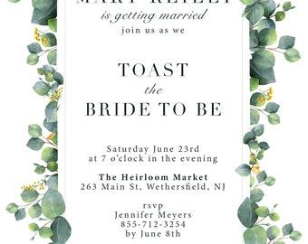 Leaf Bridal Shower Invite