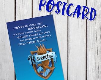 Ravenclaw Harry Potter House Planner Postcard Dashboard Divider Hogwarts