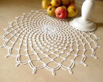 SALE 10% OFF: Large lace doily White elegant crochet doilies Table decor Crochet centerpiece Large crochet doily Crochet decoration 283