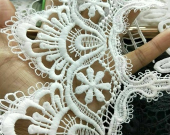 Milk white lace trim for DIY sewing,white lace trim