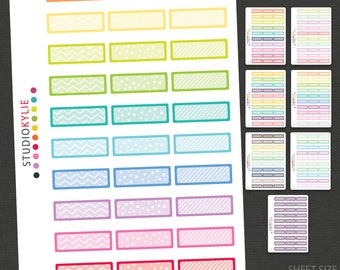 Patterned Appointment Planner Stickers - Quarter Boxes -  Repositionable Matte Vinyl Stickers