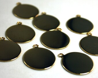 4x Vintage Gold Plated Discs - M008