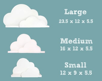 Cloud Shelf Collection - Small, Medium and Large