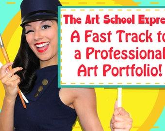 ONE FULL CLASS! The Art School Express! Online Art School with Leilani Joy.