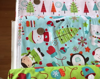 4 YD Bundle Pack - Colorful Christmas by My Minds Eye - Riley Blake