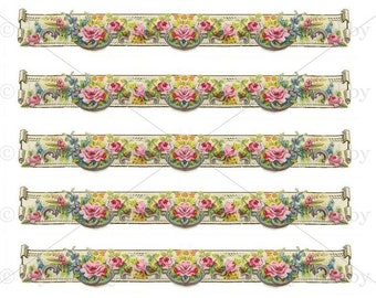 Nice A5 Furniture Decal Shabby Chic French Image Transfer Vintage Floral Trim  Edging Label Recycle Upcycling Art Crafts Scrapbooking Card Making