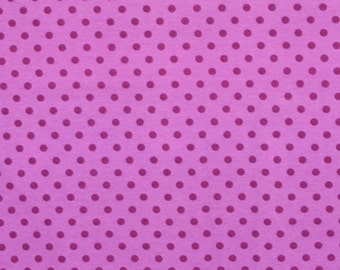 Knit Blueberry Purple Dots Fabric 1/2 yard