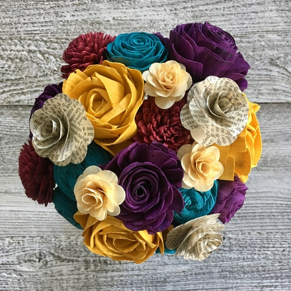 Celebrate Your Story Wooden Flower Bouquet Made to Order