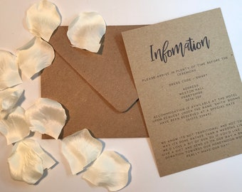 RUSTIC RANGE || INFORMATION rustic wedding invitation