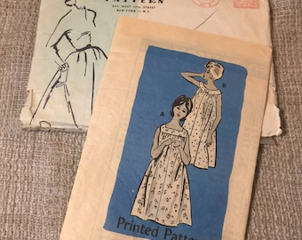 Anne Adams 1962 Original Dress housecoat Size 12 Printed Pattern 4789 |Cut and Complete|