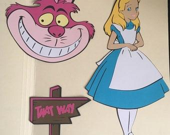 Alice in Wonderland Paper Die Cuts Set