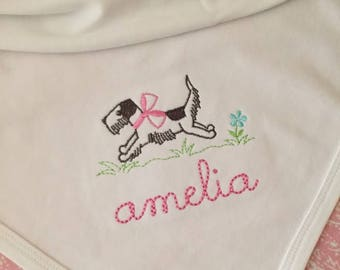 Monogrammed Baby Blanket, personalized baby gift, baby shower gift