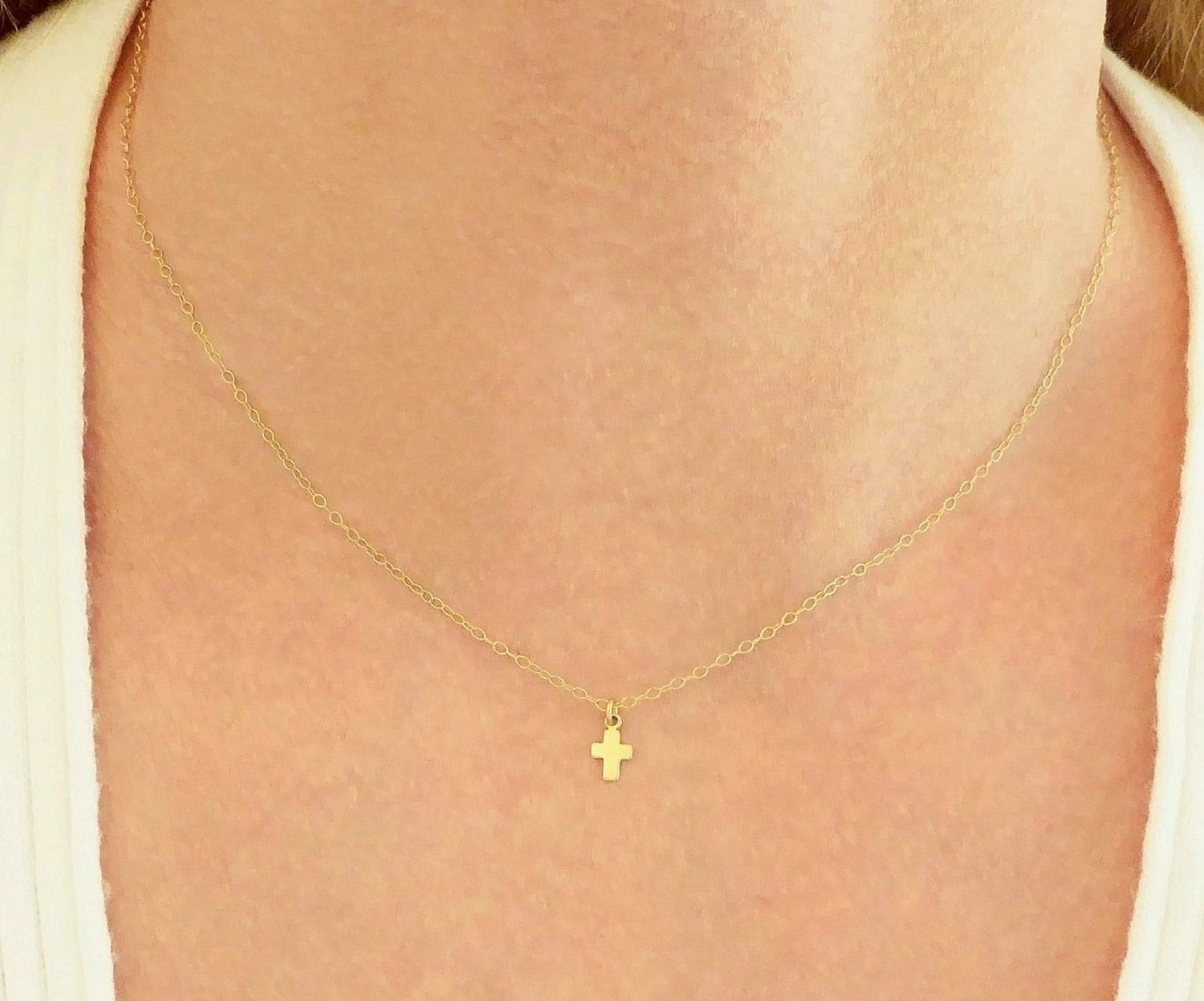 gold zoom listing party fullxfull bridal tiny necklace il cross necklacesmall small