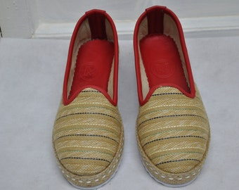 Handmade Jute Fabric Shoes(Woman-39)-1040