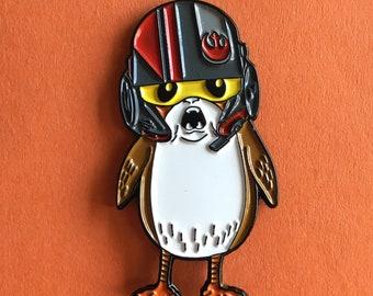 Star Wars inspired PORG DAMERON Porg Enamel Pin