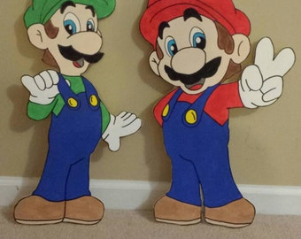 ONE 2ft Super Mario Bro. Cutout wall decoration (many to choose from or create your own)