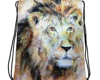 King of the Jungle Drawstring bag