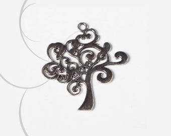A pendant, tree, silver plated nickel free 42 x 37 mm, thickness 2 mm, hole 3 mm