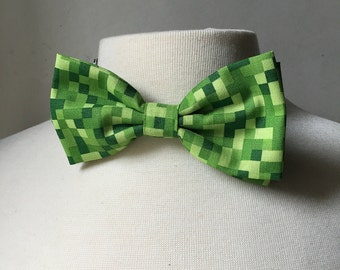Green Minecraft Inspired Bow tie