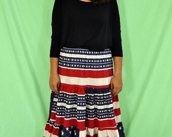 25% OFF 70s Americana Skirt L-XL