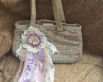 Romantic lace handbag