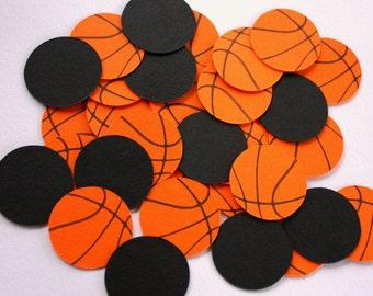 Basketball Confetti - Basketball Birthday Decorations - Basketball Baby Shower Decorations - Sports Party Confetti - Team Celebration Decor